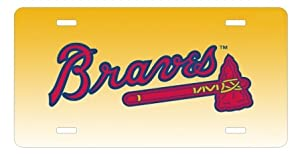 Atlanta Braves License Plate Sign 6'' x 12'' New Quality Aluminum