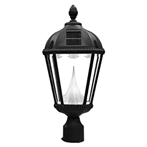 sonic royal solar outdoor led light fixture 3 inch fitter for post. Black Bedroom Furniture Sets. Home Design Ideas