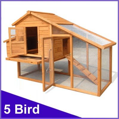 CHICKEN COOP HEN HOUSE POULTRY ARK HOME NEST RUN COUP M - Suitable for upto 5 Birds - INTEGRATED RUN  &  CLEANING TRAY  &  INNOVATIVE LOCKING MECHANISM - (COOP ROOSTER MEDIUM)