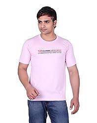 Martin Smith Pink Round Neck T- Shirt For Men