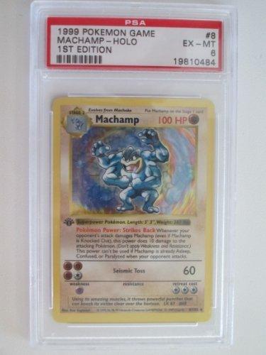 Machamp Rare Holo 8/102 PSA 6 Pokemon Base Set Trading Card 1st Edition
