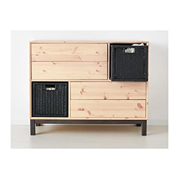 Ikea Nornas Commode 4 Tiroirs 2 Compartiments Pins