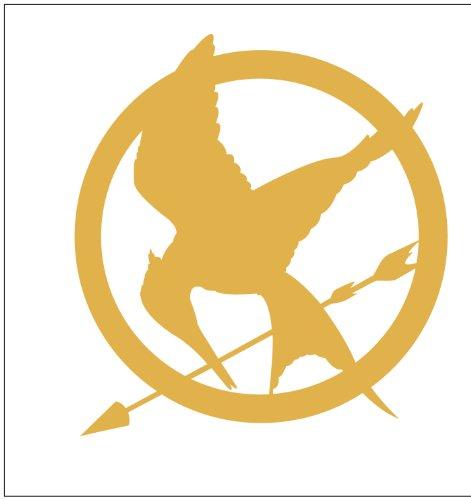 Hunger Games Mocking Jay Sticker Decal Metallic Gold