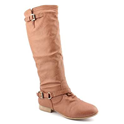 COCO 1 Womens Buckle Riding Knee High Boots,Coco-01v5.0 Premium Tan 5
