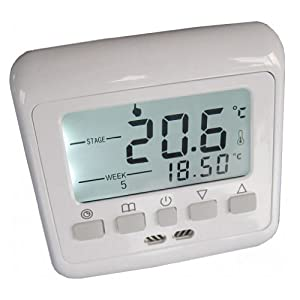 aubig digitale raumthermostat thermostat programmierbar thermostat lcd wei e. Black Bedroom Furniture Sets. Home Design Ideas