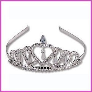 Rhinestone Princess Tiara with Pearls