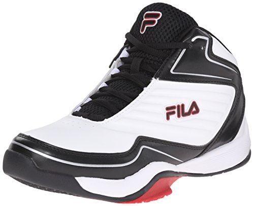 Fila Men's Import-M Basketball Shoe, White/Black/Fila Red, 9 M US