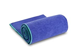 "YogaRat 100% Microfiber Yoga Towels - Available separately in two sizes: Mat Length (24"" x 72"") and Hand Size (15"" x 24"") from YogaRat"