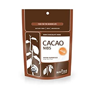 Navitas Naturals Organic Raw Cacao Nibs,  1 Pound  Pouches (Pack of 2)