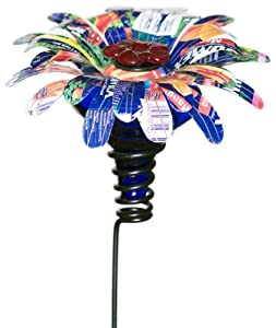 Parasol SSMBB1 4 by 4 by 24-Inch Sugar Shack Mini Blossom Flower Stake Hummingbird Feeder, Blue (Discontinued by Manufacturer)