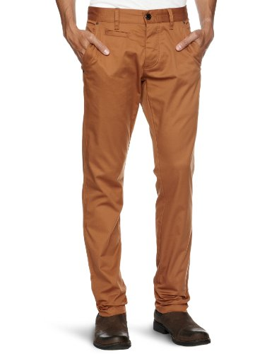Selected Homme Three Store-16026268 Chino T Relaxed Men's Trousers Orange Camel W30 INxL34 IN