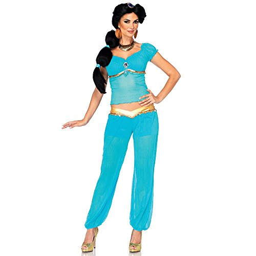 Disney Princess Jasmine Adult Deluxe Costume Womens Whole New World Teal