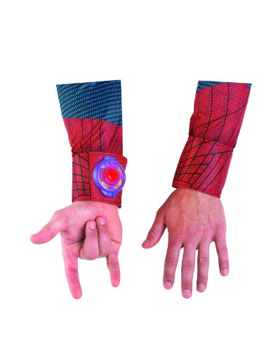 Disguise Marvel The Amazing Spider-Man Light Up Adult Web Shooter, Red/Blue