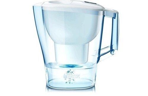 Brita Aluna White Caraffa Filtrante per Acqua, Plastica, Bianco, 2.4 litri, 26.7 x 10.9 x 27.7 cm