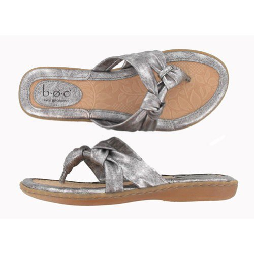 Women's B.O.C. by Born Concepts, Sequin Thong Sandal PEWTER 7 M