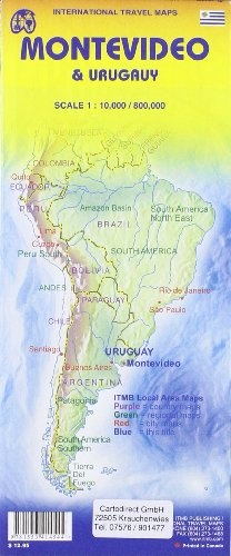 Uruguay & Montevideo : 1/800 000 (International Travel Maps)