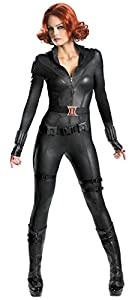 Disguise Womens Marvel Comics Black Widow Avenger Theat Fancy Halloween Costume, Small (4-6)
