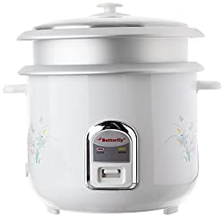 Butterfly Cylindrical KRC-22 2.8-Litre 800-Watt Electric Rice Cooker (White)