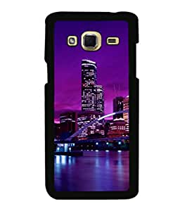 printtech Boat City River Building Back Case Cover for Samsung Galaxy J3 Pro