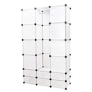 songmics diy armoire armoire penderie cubes tag re de rangement modulables plastiques. Black Bedroom Furniture Sets. Home Design Ideas