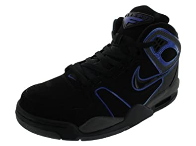 Nike Men's NIKE AIR FLIGHT FALCON BASKETBALL SHOES 8 (BLACK/BLACK/DARK GREY/GM ROYAL)