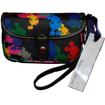Disney Dooney & Bourke Black Wristlet Purse