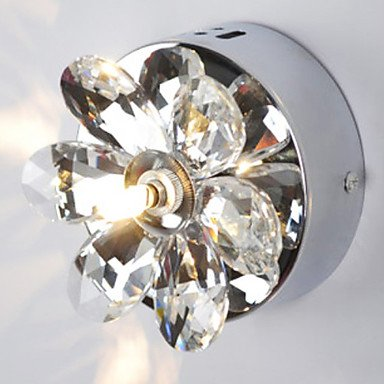 Wall Light, une lumiššre, ronde moderne en mšŠtal cristal Chrome