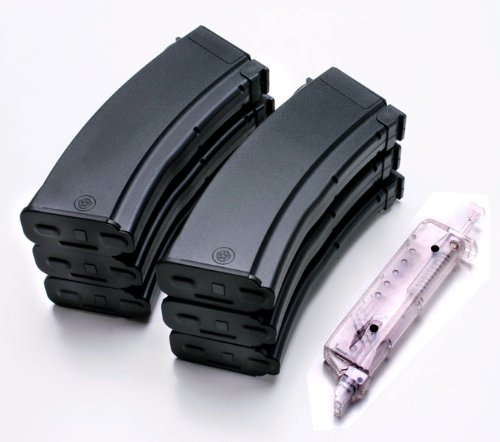 AK47 AK74 RPK 100-round mid cap airsoft magazine 6-pack SRC SAK-83