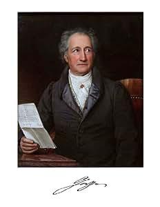 Johann Wolfgang Von Goethe 8 1/2 X 11 Color Photograph w/ Printed Signature