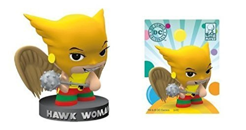 DC Comics Little Mates Hawk Woman Figurine And Puff Sticker