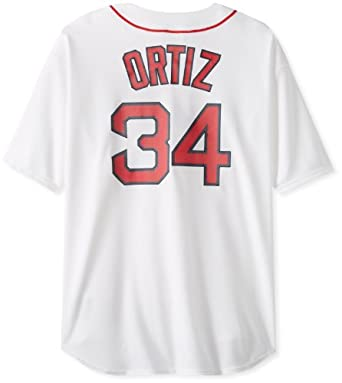 MLB Boston Red Sox David Ortiz White Home Short Sleeve 6 Button Synthetic Replica... by Majestic