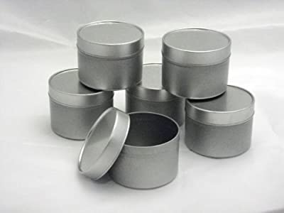 Empty Silver Tins X 6 Ideal For Candle Making from ecosoy.co.uk
