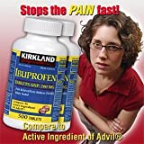 Kirkland Signature Ibuprofen 200mg,500-Count, (Pack of 2)