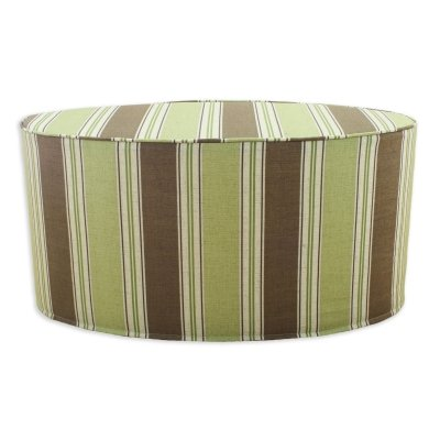 Chooty & Co. Landry Stripe Malt 30in Oval Corded Ottoman