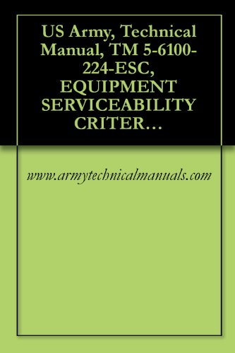 US Army, Technical Manual, TM 5-6100-224-ESC, EQUIPMENT SERVICEABILITY CRITERIA FOR POWER PLANT, UTILITY, POR GAS TURBINE ENGINE DRIVEN, SKID MTD, (AIRESEARCH