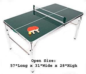 The Original MASTER PONG MINIATURE SIZED Ping Pong Table Set with EXTRA Three Star BALLS and PADDLES! THIS IS NOT A FULL SIZED, REGULATION PING PONG TABLE!
