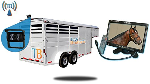 Tadibrothers 7 Inch Horse Trailer Monitor with Wireless Mounted Backup Camera