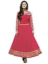 omsai fashion Women's Silk semi-stitched Dress Material (Kavya PINK.A_pink)