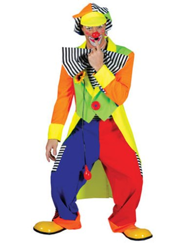 Spanky Stripes Adult Clown Std Adult Mens Costume