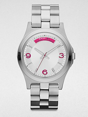 Marc By Marc Jacobs 'Baby Dave' Silver Bracelet Watch