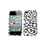 Apple iPhone 4 iPhone 4 Colorful Leopard Snap-on Cover Faceplate / Executive Protector Case