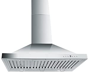 Z Line ZLKB30 Stainless Steel Wall Mount Range Hood, 30-Inch by Z Line Kitchen and Bath LLC