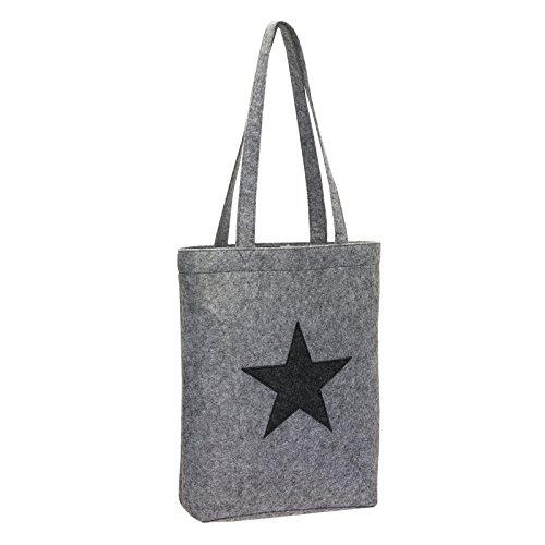 cabas-en-feutre-tissu-sac-de-shopping-rolser-panier-en-feutre-avec-motif-detoile-gris