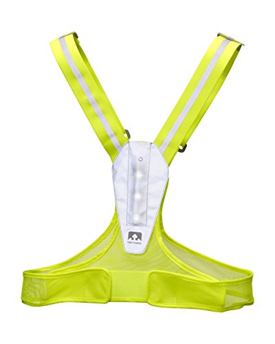 Nathan Light Fit Vest Safety, Yellow
