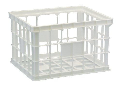 United Solutions-Organize Your Home Cr0252 Set Of Three Large Plastic Storage Crates In White-3 Large Stackable White Crates To Organize And Store Items Neatly front-882672