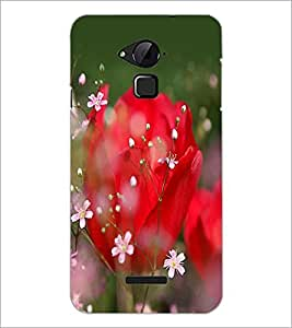 PrintDhaba Flowers D-2279 Back Case Cover for COOLPAD NOTE 3 LITE (Multi-Coloured)