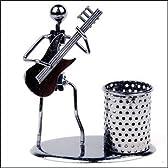 オシャレインテリア 人型演奏家付き ペンホルダー (エレキギター)