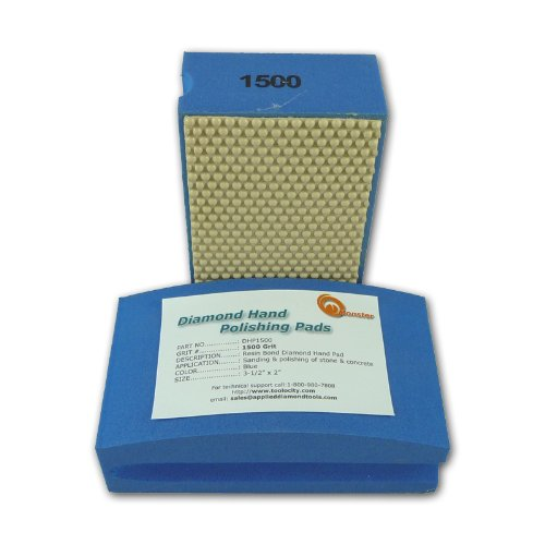 Monster DHP1500 Monster Diamond Hand Polishing Pads for Stone (Hand Stone Polishing compare prices)