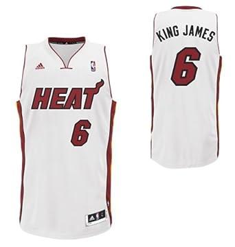 NBA Miami Heat King James Swingman Jersey, White (S) by adidas