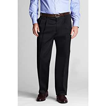 Lands 39 end men 39 s regular pleat front traditional fit no iron twill trousers 38w x 29l cuffed - How to unwrinkle your clothes with no iron ...